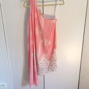 Multi length rose pink 100% silk, tags on dress